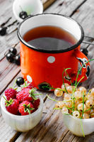 Tea and berries