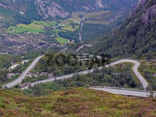 Weg zum Lysebotn