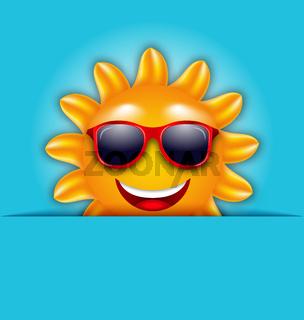 Cool Summer Sun in Sunglasses, Beautiful Card