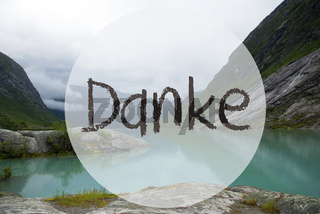 Lake With Mountains, Norway, Danke Means Thank You