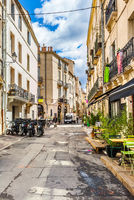 Street of Montpellier in France