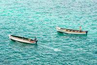 Fischerboote vor Mauritius