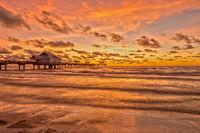 Sonnenuntergang am Clearwater Beach Florida