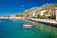 Town of Karlobag in Velebit channel waterfront view