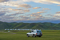 Nomadenlager im Orchon-Tal, Mongolei