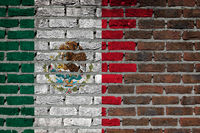 Brick wall texture - Flag of Mexico