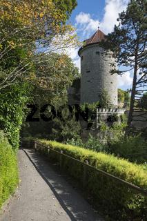 Der historische Rundwehrturm, genannt Gallerturm in Überlingen