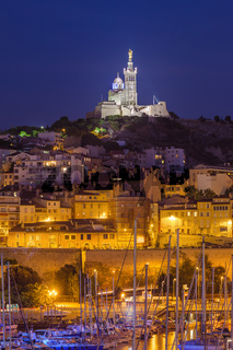 Old Port and Basilica of Notre Dame - Marseille France
