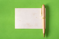 Blank card with a pen