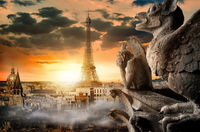 Cloudy sky over Paris