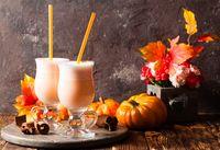 Pumpkin milk coctail