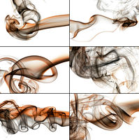 Abstract smoke on white background - Collage