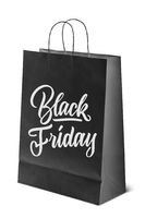 on paper bag inscription is black Friday