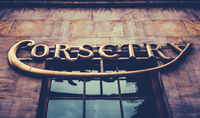 Vintage Corsertry Store Sign
