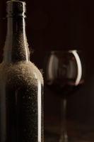 Dusty bottle of vintage wine