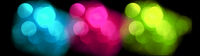 Colorful blurred lights, bokeh effect.