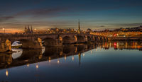Jacques-Gabriel Bridge over the Loire River in Blois, France
