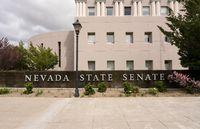 Nevada State Senate building entrance in Carson City