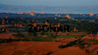 Ballooning in the dawn over Bagan