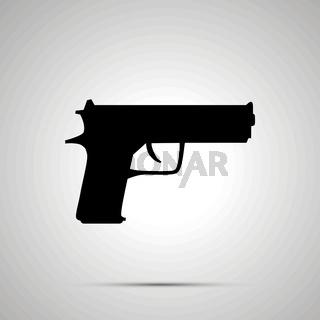 Gun silhouette, simple black icon