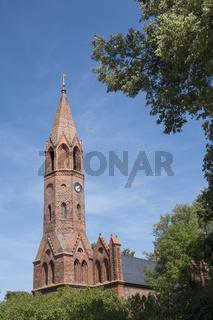 Kirche in Brodowin, Deutschland