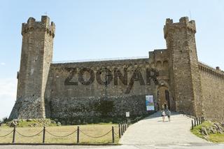 Die Festung Fortezza von Montalcino, Toskana, Italien