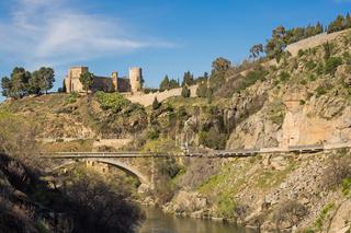 Burg Castillo de San Servando in Toledo, Kastilien, Spanien