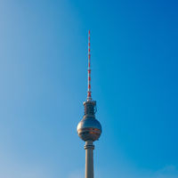 Tv Tower (Fernsehturm) in Berlin isolated