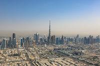 Dubai Burj Khalifa Hochhaus Luftaufnahme Luftbild
