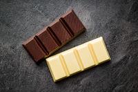 Dark and white chocolate.