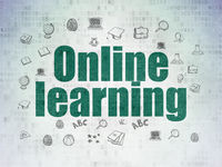 Learning concept: Online Learning on Digital Data Paper background