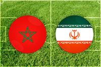 Marocco vs Iran football match