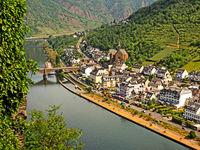 Luftaufnahme von Cochem an der Mosel, Rheinland-Pfalz, Deutschland