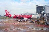 AirAsia airplane in Singapore airport