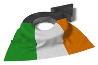 symbol für männlich und flagge von irland - 3d illustration