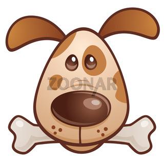 Brown Puppy With Bone