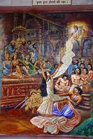 Disrobing of Draupadi , Mahabaharata Scene. Iskcon temple, Pune