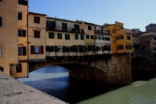 Florenz, Ponte Vecchio, Blick von Westen