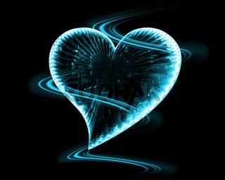 frozen heart in the dark