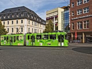 Am Barbarossaplatz in Wuerzburg