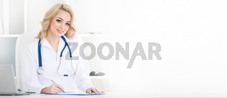Female doctor at clinic office