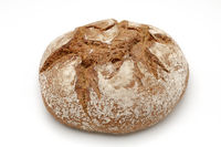 Bread over white background
