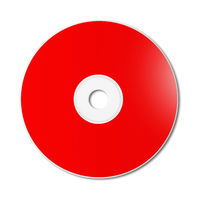 Red CD - DVD mockup template isolated on white