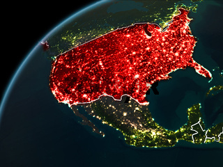 Night over USA