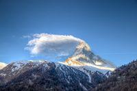 Matterhorn mountain in Switzerland