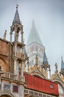 Detail of the tower of St Mark's Campanile - Campanile di San Marco in Italian