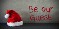 Santa Hat, Text Be Our Guest