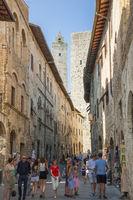 Gasse von San Gimignano
