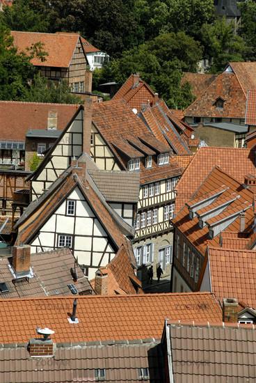 Blick auf die Quedlinburger Altstadt