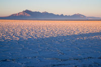 Bonneville Salt Flats Graham Peak Sunset Mountain Range